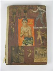 Sale 8450S - Lot 705 - Boxing Scrapbook - nicely collaged