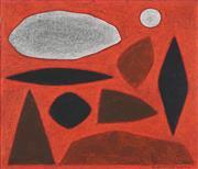 Sale 8492 - Lot 535 - John Coburn (1925 - 2006) - Study for Clouds over Uluru 34 x 40cm
