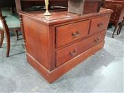 Sale 8700 - Lot 1028 - Timber Chest of Four Drawers