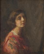 Sale 8722 - Lot 558 - Josephine Muntz-Adams (1862 - 1949) - Portrait of a Lady 56 x 47cm