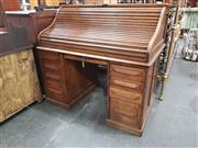 Sale 8868 - Lot 1563 - Oak Roll Top Desk
