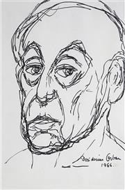 Sale 8908A - Lot 5040 - Desiderius Orban (1884 - 1986) - Self Portrait, 1966 29 x 20 cm