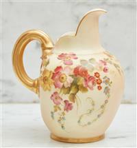Sale 9090H - Lot 48 - A Royal Worcester tusk jug. Height 16cm