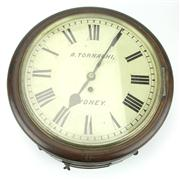 Sale 8314 - Lot 1 - Angelo Tornaghi Wall Clock from Typewriter Repair Branch