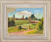 Sale 8363 - Lot 533 - Roland Wakelin (1887 - 1971) - Clock Tower at Richmond, 1952 26 x 34cm