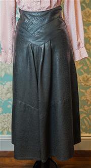 Sale 8420A - Lot 84 - A Frantik Australia 80s vintage crocodile suede A-line skirt, condition: very good, size: vintage 10
