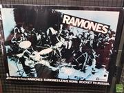 Sale 8421 - Lot 1041 - Vintage and Original The Ramones Promotional Poster (49cm x 71.5cm)