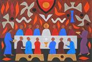 Sale 8492 - Lot 547 - John Coburn (1925 - 2006) - Study for Last Supper I 30 x 45cm