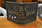 Sale 8511 - Lot 1069 - Vintage Brass CBC Banking Plaque
