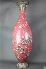Sale 8621 - Lot 50 - Large Cloisonne Vase (Some Wear and Losses, H: 123cm)