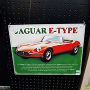 Sale 8636 - Lot 2073 - Reproduction Jaguar E-Type Advertisement