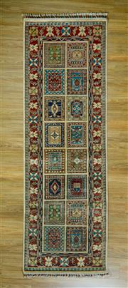 Sale 8672C - Lot 34 - Afghan Super Kazak Runner 257cm x 84cm