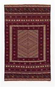 Sale 8780C - Lot 274 - A Very Fine Persian Sumak Hand Woven Wool, 295 x 120cm