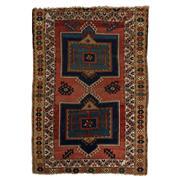 Sale 8860C - Lot 52 - An Antique Caucasian Kazak (Circa 1940) in Handspun Wool 180x125cm