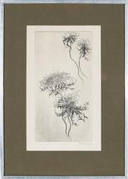 Sale 9028 - Lot 2055 - Artist Unknown - Floral Study 30 x 15.5 cm (frame: 49 x 35 x 3 cm)