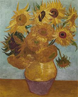 Sale 9096A - Lot 5088 - Vincent Van Gogh (1853 - 1890) - Sunflowers 68 x 55 cm (frame: 99 x 98 x 3 cm)