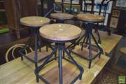 Sale 8390 - Lot 1179 - Set of 4 Black Square Base Industrial Style Swivel Stools