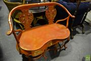 Sale 8472 - Lot 1065 - Carved Chinese Two Seater Wishbone Settee
