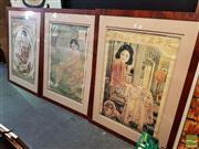 Sale 8478 - Lot 2038 - Set of 3 Vintage Framed Chinese Prints
