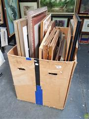 Sale 8595 - Lot 2036 - Box Collection of mostly Decorative Prints, framed various sizes (box not included)