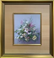 Sale 8668 - Lot 2016 - Fleur Priestly - Still Life, oil on board, 59 x 54.5cm (frame size), s.l.c