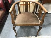 Sale 8805 - Lot 1084 - Oak Tub Chair