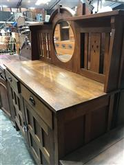 Sale 8868 - Lot 1543 - Timber Arts and Crafts Mirror Back Sideboard