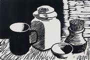 Sale 8980A - Lot 5097 - Una Foster (1912 - 1996) - On the Shelf, 1981 20 x 30 cm (frame: 46 x 56 x 3 cm)