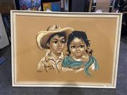 Sale 9004 - Lot 2077 - A retro print of Country Latino Children, 64 x 91 cm
