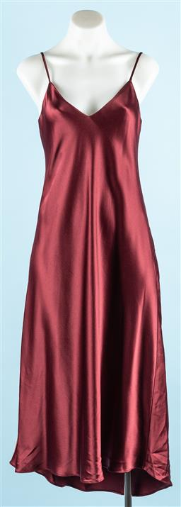 Sale 9091F - Lot 12 - A FIRST EDITION BORDEAUX slip dress new with tags size 8