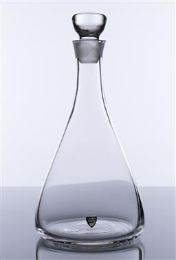 Sale 9245R - Lot 2 - A Swedish Orrefors lead crystal decanter, Ht: 28cm