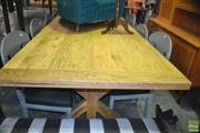 Sale 8390 - Lot 1243 - Large Oak Stretcher-Base Table (280cm)
