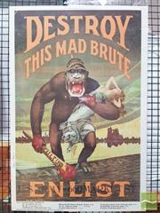 Sale 8421 - Lot 1010 - Campaign Poster DESTROY THIS MAD BRUTE                       76cm x 51.5cm