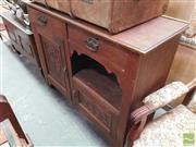 Sale 8424 - Lot 1097 - Oak Dresser Base (H 95 x W 124 x D 44.5cm)