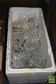 Sale 8509 - Lot 2296 - Box of Crystal Ware and Glassware