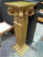 Sale 8657 - Lot 1001 - Ornate Gilt Pedestal