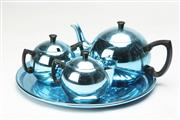 Sale 8658 - Lot 11 - Towerbrite Blue Anodised Tea Set