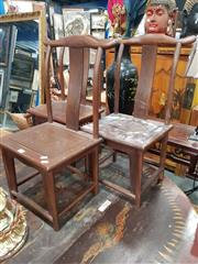 Sale 8700 - Lot 1074 - Set of 3 Chinese Chairs