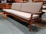 Sale 8741 - Lot 1004 - Timber Mid Century Lounge/Daybed