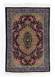Sale 8790C - Lot 90 - A Very Fine Kashmiri Silk Pile, 216 x 152cm