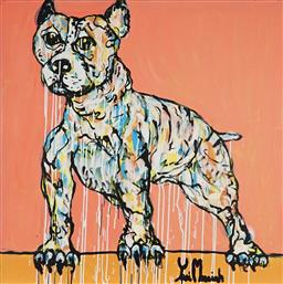 Sale 8968A - Lot 5050 - Yosi Messiah (1964 - ) - Baby Dog 102 x 102 cm (total: 102 x 102 x 4 cm)