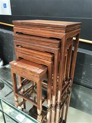 Sale 8868 - Lot 1172 - Chinese Nest of Four Side Tables