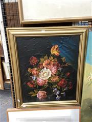 Sale 8891 - Lot 2070 - Artist Unknown  Still Life oil on canvas,  71 x 61cm (frame), signed