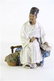 Sale 8902C - Lot 654 - Chinese Ceramic Figure Of A Man H: 23cm