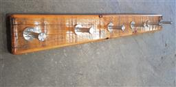 Sale 9112 - Lot 1054 - Timber and metal wall mount coat hook (l:103cm)