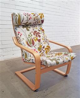 Sale 9137 - Lot 1064 - Bentply armchair (h:97 x w:68cm)