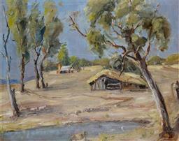Sale 9191A - Lot 5026 - RICHARD HERZOG Farm Scene, North East Victoria oil on canvas 39 x 50 cm (frame: 57 x 67 x 5 cm) signed