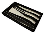Sale 8372A - Lot 37 - Laguiole by Louis Thiers Organique 4-Piece BBQ Set in Polished Finish RRP $320