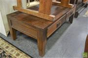 Sale 8390 - Lot 1248 - Oak Coffee Table with Drawers