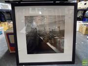Sale 8407T - Lot 2082 - Pair of Decorative Photographic Prints of Sydney Harbour Bridge c1950s, frame size: 69.5 x 69.5cm